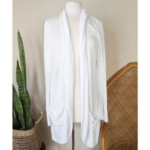AEROPOSTALE Long White Draped Cardigan Size XL